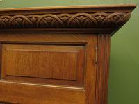 Antique Oak Linen Cupboard, Housekeepers Cupboard Larder with Shelves (2 of 16)