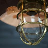Original Ships Brass Passageway Light – Copper Shade (2 of 5)