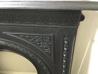 Fine Victorian Cast Iron Fireplace & Grate (2 of 4)