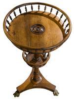 Victorian Circular Rosewood Torchere (5 of 5)