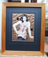 Embroidery Collage Hollywood Glamour Artist Heather Everit