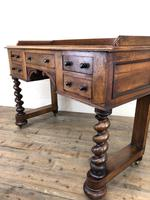 Antique Mahogany Desk with Barley Twist Supports (13 of 13)