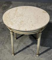 French Round Marble Top Coffee Table (3 of 15)