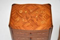 Pair of Antique French Inlaid Marquetry Bedside Tables (8 of 10)
