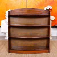 Oak Open Bookcase Bowfront Waterfall Bookshelves (3 of 9)