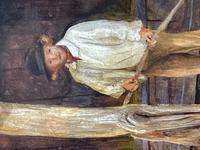 "Watercolour ""Tending The Sheep"" By Bertha Rhodes RA Rca Exh 1905 -1912 (29 of 41)"