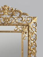Large 19th Century Carved Giltwood Marginal Overmantle Mirror (13 of 16)