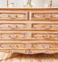 French Antique Style Chest of Drawers / Louis XV Style Raw Oak Chest (7 of 9)