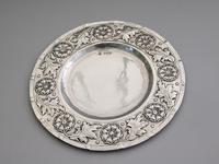 Victorian Arts & Crafts Hand Raised Silver Exhibition Dish by W G Connell, London, 1893 (4 of 10)