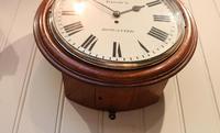 Large Oak Factory Wall Dial Clock (5 of 8)