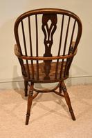 Mid 19th Century Ash & Elm High Back Windsor Armchair (4 of 7)
