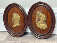 Pair of Interesting 19th Century Gilded Bronze Alexander The Great & Napoleon Cameo Plaques (24 of 29)