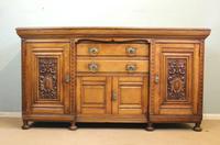 Antique Late 19th Century Oak Sideboard Dresser Base. (14 of 14)