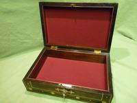 Regency Style Inlaid Rosewood Jewellery – Table Box c.1830 (8 of 11)