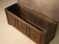 Small 17th Century Style Oak Coffer c.1890 (5 of 5)