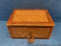 Victorian French Burr Maple & Brass Inlaid Box