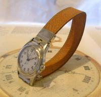 Vintage Wrist Watch Strap 1940s WW2 Military 16mm Brown Pig Skin Spring Loaded Ends Nos (2 of 12)