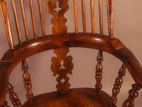 Very Good 19th Century Broad Arm Yew Windsor Chair (7 of 10)