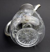 Substantial WMF Deep Cut Glass & Silver Plate Cooling Lemonade Jug c.1935 (9 of 10)