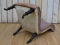 Antique French Slipper Fireside Chair For Re-upholstery (7 of 9)