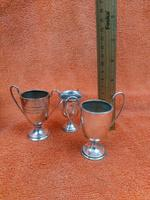 3 x Antique Sterling Silver Hallmarked Silver Trophies Cups C1930's (3 of 12)