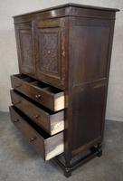 Good Quality Carved Oak Tallboy / Linen Press / Wardrobe (4 of 11)