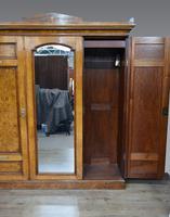 Victorian Walnut Triple Wardrobe (4 of 5)