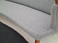 "Danish Sofa, Kurt Olsen Model 220 ""Banana"", Completely Renovated, 60s, Teak, Furniture Wool (15 of 15)"