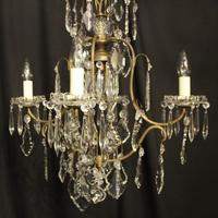 French Gilded Birdcage 5 Light Antique Chandelier (3 of 10)