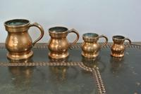 4 Gaskell & Chambers Antique Bell Metal Baluster Measures 1/2 Pint to 1/4 Gill (2 of 9)