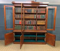 Fine Quality Figured Mahogany Library Bookcase (8 of 17)