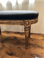 Antique French Carved Giltwood & Gesso Window Seat Bench (10 of 13)