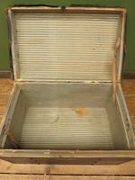 Antique Black Chest Trunk Storage Box, Steamer Trunk (12 of 13)