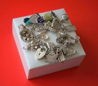 A Vintage 1963 Heavy Silver Charm Bracelet With 38 Silver Charms - Ideal Birthday Present  / Boxed (8 of 10)