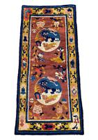 Antique Chinese Ningxia Rug 1.61m x 0.74m (2 of 9)