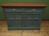 Antique Painted Bohemian Blue Edwardian Sideboard (2 of 22)