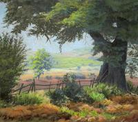 'Lincolnshire Summer' - Fine Mid Century English Landscape Watercolour Painting (2 of 11)