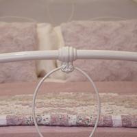 Cream Victorian Cast Iron Bedstead with Hoop Over Design (5 of 10)