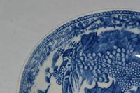 c1785-90 Caughley Porcelain 'Fenced Garden' Pattern Saucer (5 of 6)
