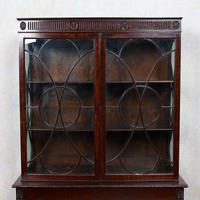 Edwardian Glazed Bookcase Cabinet on Stand Astragal Mahogany (5 of 11)