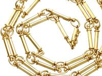 12ct Yellow Gold Chain - Antique c.1920 (2 of 13)