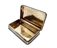 Antique Victorian Sterling Silver Snuff Box 1844 (7 of 10)