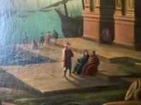 After Claude Lorrain Huge Superb 19th Century Venice Seascape Oil Painting (9 of 22)