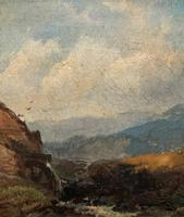 Joseph Horlor Small Original 19th Century Welsh Landscape Oil Painting (5 of 12)