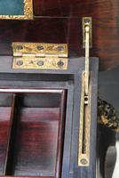Fine Quality 19th Century French Ebonised & Amboyna Serpentine Sewing Table (11 of 21)