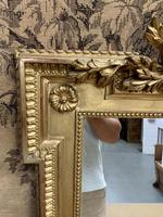 French 19th Century Gilt Wall Mirror with Carved Decoration (5 of 9)