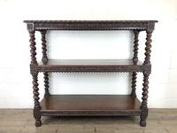 Antique Victorian Carved Oak Three Tier Display Shelves (4 of 10)