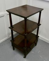 Three Tier Regency Rosewood Whatnot with Drawer (5 of 7)