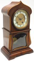 Fantastic Art Nouveau Mantle Clock Tulip Floral Inlay 8 Day Mantle Clock (3 of 10)