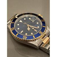 18ct Yellow Gold & Steel Rolex Submariner Blue Dial (2 of 6)